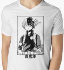 Camiseta para hombre de cuello en v Todoroki Shōto
