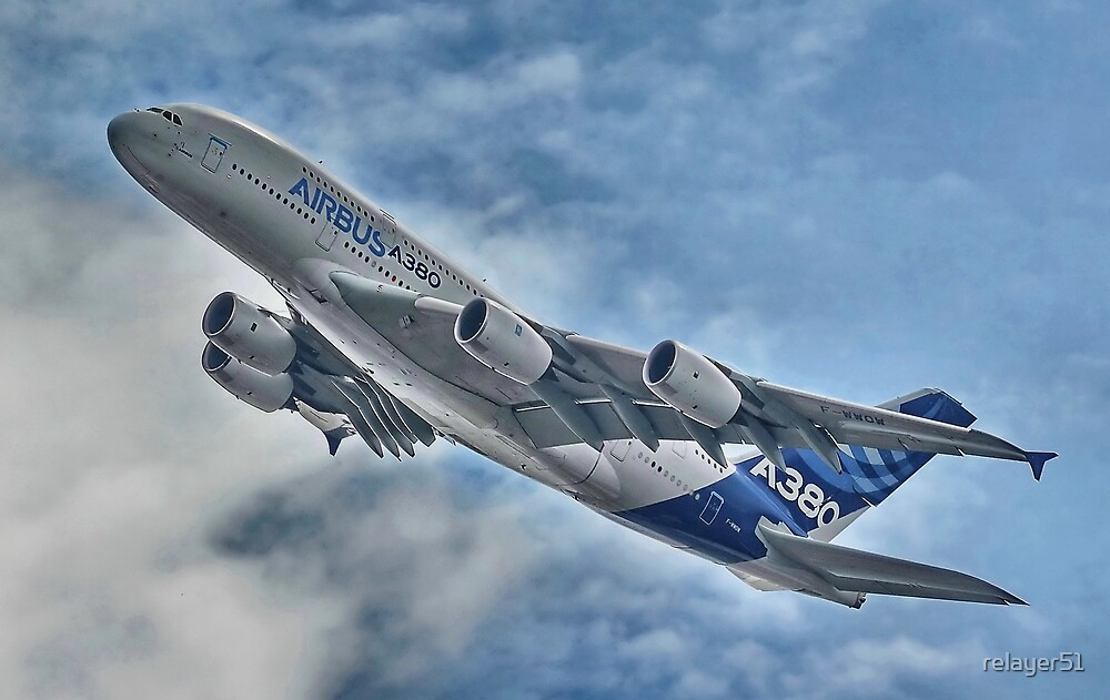 A380 @ Farnbrough  Airshow 2014 by relayer51