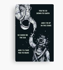 Astronaut and Diver - I'm Up in The Stars Poster Canvas Print