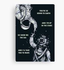 Astronaut und Taucher - ich bin oben im Stern-Plakat Leinwanddruck