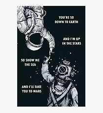 Astronaut and Diver - I'm Up in The Stars Poster Photographic Print