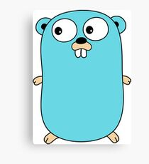 Golang Gopher - The Go Programming Language Canvas Print