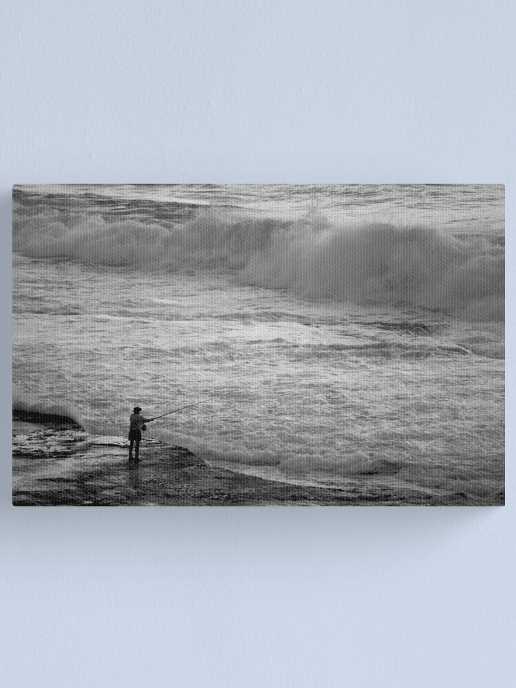 Alternate view of Rock Fisherman Canvas Print