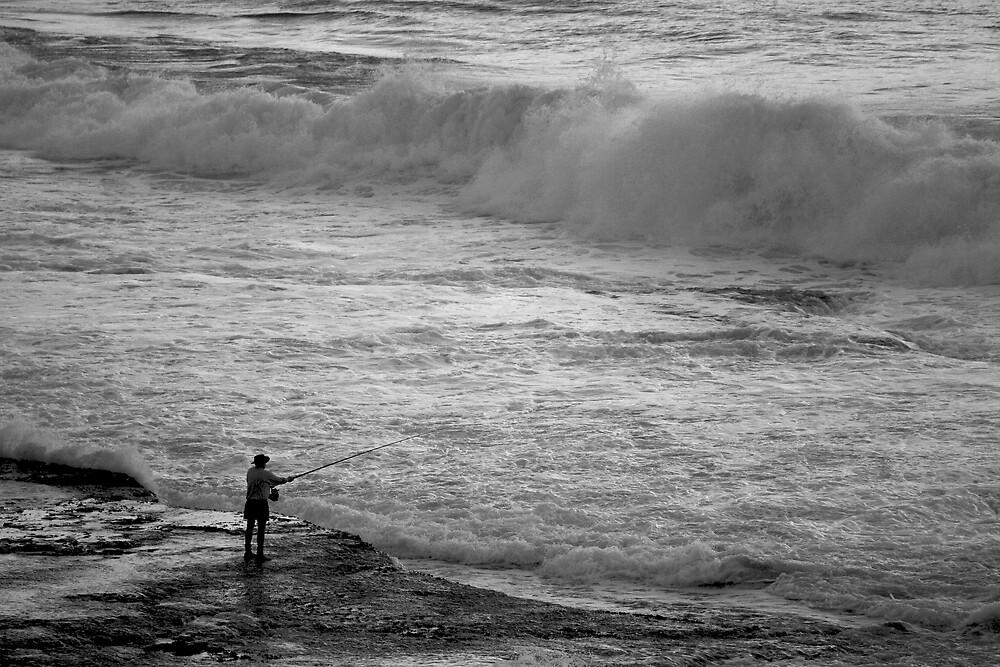 Rock Fisherman by Trevor Farrell