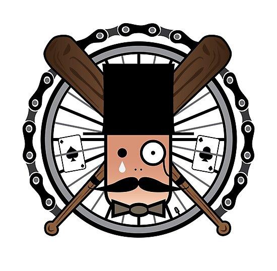 Fixie Moustache by gfrcsd
