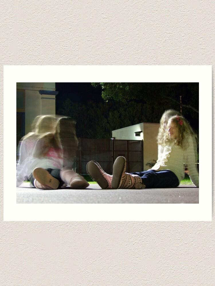 Alternate view of Girl Talk Art Print