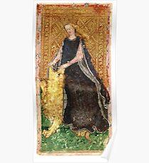 Ancient Tarot Card - Strength  Poster