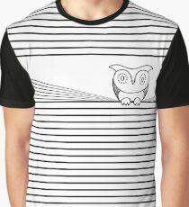 El búho y las rayas Camiseta gráfica