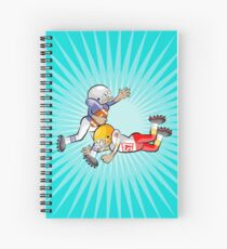 American football player stopping opponent Spiral Notebook