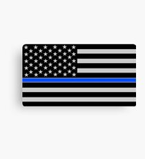 BLUE LIVES MATTER American Flag Canvas Print