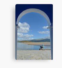 View Through an Arch at PortMeirion Canvas Print