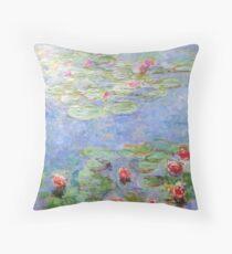 Claude Monet - Water Lilies Throw Pillow