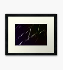 electric barb wire Framed Print