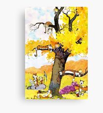 Calvin and Hobbes Mural Canvas Print