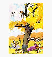 Calvin and Hobbes Mural Photographic Print