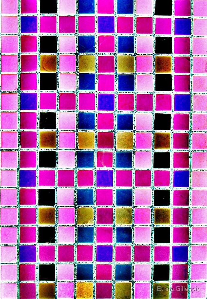 Pink Squares  by Ethna Gillespie
