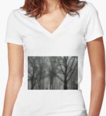 Mist Women's Fitted V-Neck T-Shirt