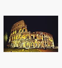 Colosseum At Night Photographic Print