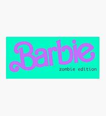 Barbie Zombie Photographic Print