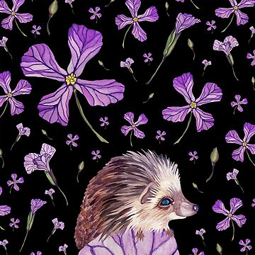 Prickles & Petals the Hedgehog by christinemay
