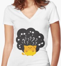 """Halloween - """"Guess Who"""" Women's Fitted V-Neck T-Shirt"""