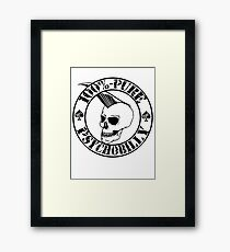 Pure Psychobilly - Black Stamp Framed Print