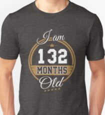 Funny Vintage 11th Birthday I'm 132 Months Old Gift T-Shirt