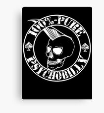 Pure Psychobilly - White Stamp Canvas Print