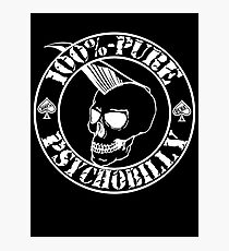 Pure Psychobilly - White Stamp Photographic Print