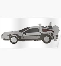 Back to the Future- Delorean Art Poster