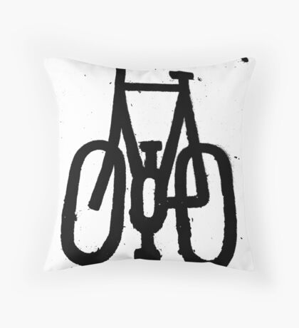 Cycling Allowed Throw Pillow