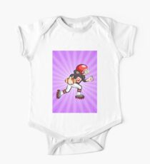 Soccer player running with the ball One Piece - Short Sleeve