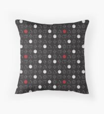 Dungeons and Dragons Dice Set D20 Pattern Throw Pillow