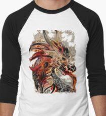 anunusualwoman steampunk gear dragon Men's Baseball ¾ T-Shirt