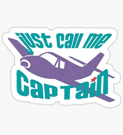 Captain t-shirt Sticker
