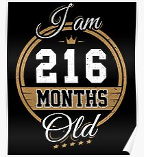 Funny Vintage 18th Birthday I'm 216 Months Old Gift Poster