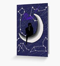 Music Moon Galaxy Greeting Card