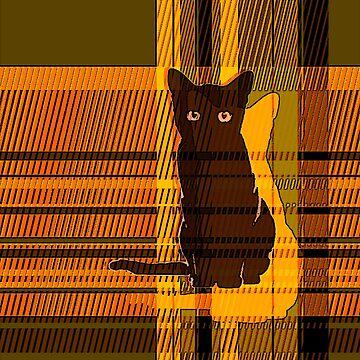 black cat crossing 4 by OshustArt