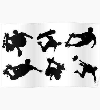6 SKATE tricks  Poster
