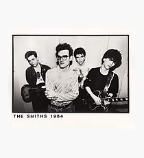 The Smiths- 1984 Vintage Design Photographic Print