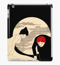 Lady geting dressed by moonlight 020 iPad Case/Skin