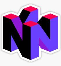 Nintendo 64 Purple Aesthetic logo Sticker