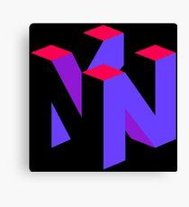 Nintendo 64 Purple Aesthetic logo Canvas Print