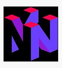 Nintendo 64 Purple Aesthetic logo Photographic Print