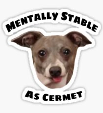 Jenna Marbles Dog Kermit  Sticker