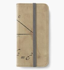 Pythagoras' Theorem iPhone Wallet
