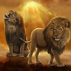Lions at the top of their Kingdom by JaneEden
