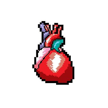 Pixel Heart - Centred by twostarsystems