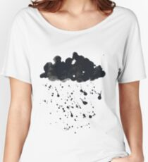 Stormy Black Clouds Version 2 For Earth Day Women's Relaxed Fit T-Shirt