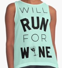 Will run for wine Contrast Tank